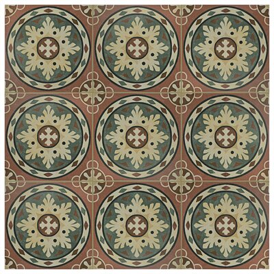 """Colombia 9.75"""" x 9.75"""" Porcelain Field Tile in Rosso"""