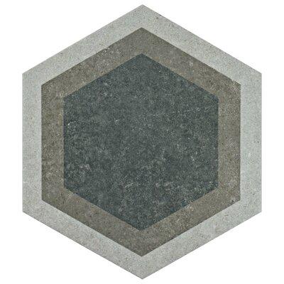 "Transit Hex 8.63"" x 9.75"" Porcelain Field Tile in Combi Gray"