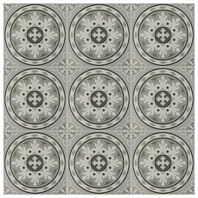 "Colombia 9.75"" x 9.75"" Porcelain Field Tile in Gray"