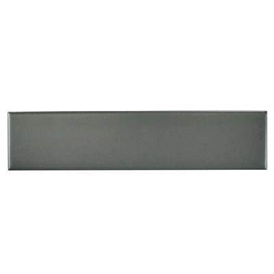 "Retro 1.75"" x 7.75"" Porcelain Subway Tile in Matte Gray"