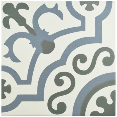 "Hydraulic 9.75"" x 9.75"" Porcelain Field Tile in Ducados"