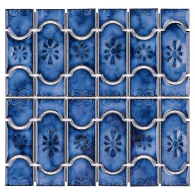 Mondego Porcelain Mosaic Tile in Blue