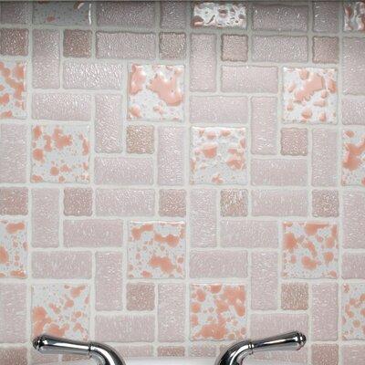 Pallas Random Sized Porcelain Mosaic Tile in Pink