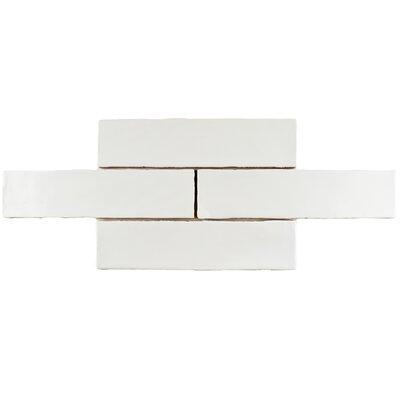 """Tivoli 3"""" x 12"""" Ceramic Field Tile in Matte White"""