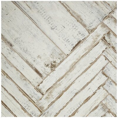 "Rama 2.75"" x 23.5"" Porcelain Wood Look/Field Tile in White"
