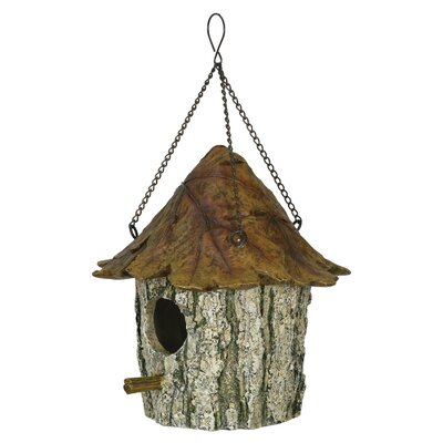Tree Leaf Novelty 9 in x 9 in x 9 in Birdhouse