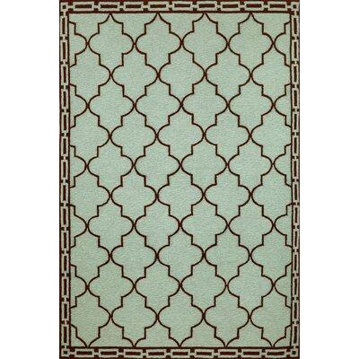 Liora Manne Ravella Floor Tile Aqua Indoor/Outdoor Rug