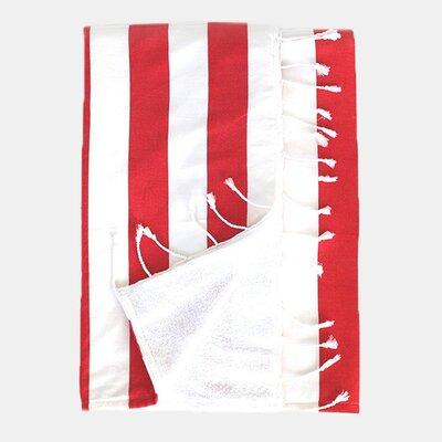 Deck 100% Cotton Beach Towel Color: Red