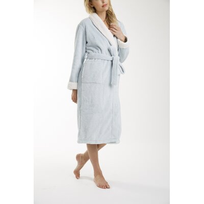 Patrie Sherpa Bathrobe Color: Blue, Size: Extra Large