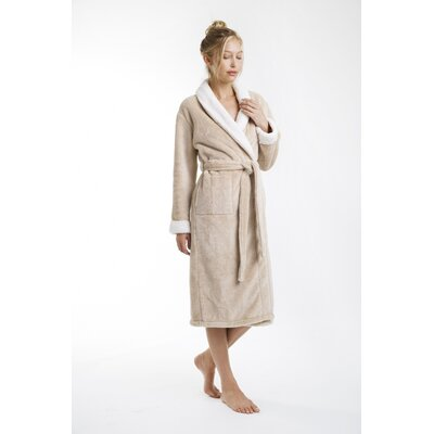Patrie Sherpa Bathrobe Color: Butter, Size: Extra Large