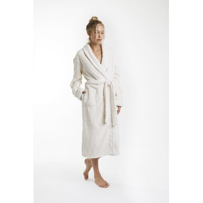 Patrie Sherpa Bathrobe Color: Cream, Size: Extra Large
