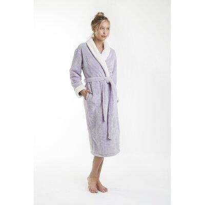 Patrie Sherpa Bathrobe Color: Lavender, Size: Small
