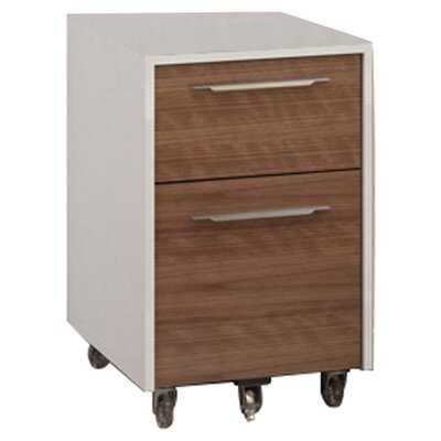 Format 2-Drawer Mobile File Color: Natural Walnut/Satin White