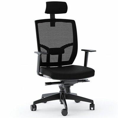 Mesh Desk Chair Upholstery: Black