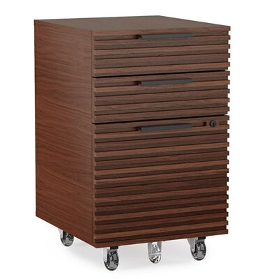 Corridor Mobile File Pedestal Color: Chocolate Stained Walnut