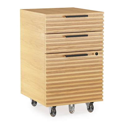 Corridor Mobile File Pedestal Color: White Oak