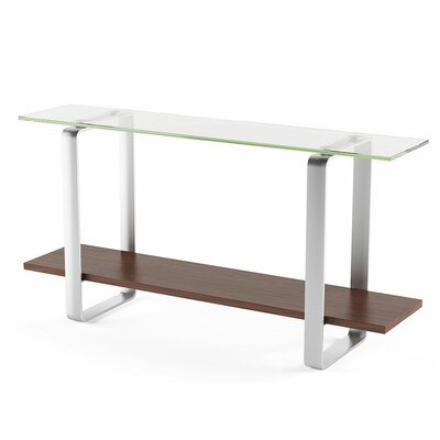Stream Console Table Color: Chocolate Stained Walnut