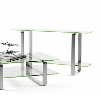 Stream Console Table Color: Clear Glass