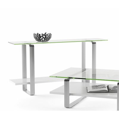 Stream Console Table Color: Satin White