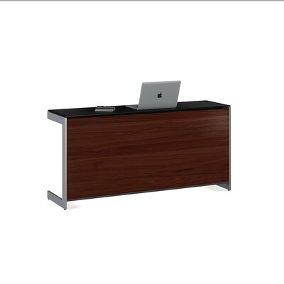 """Sequel 25"""" H x 59"""" W Desk Privacy Panel Finish: Chocolate Stained Walnut"""