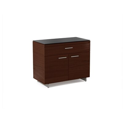 Sequel 2 Door Accent Cabinet Color: Chocolate Stained Walnut