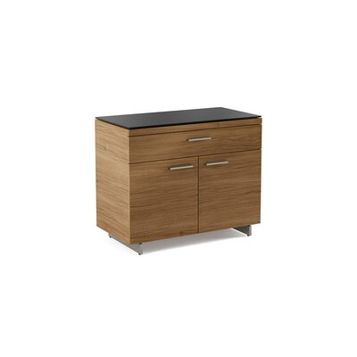Sequel 2 Door Accent Cabinet Color: Natural Walnut