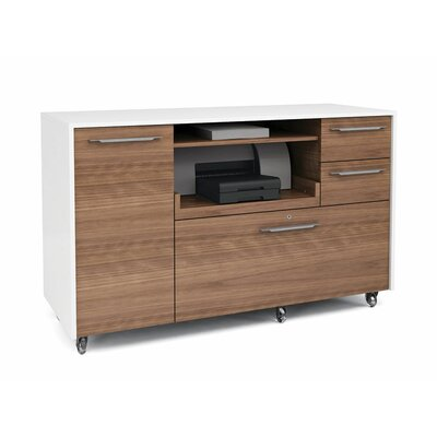 BDI Format 2 Drawers Mobile Credenza