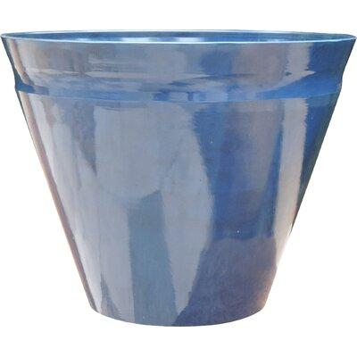 "Nile Fiber Clay Pot Planter Size: 10.63"" H x 14.57"" W x 14.57"" D"
