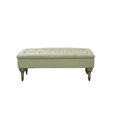 Lebaron Upholstered Bench Color: Antique White