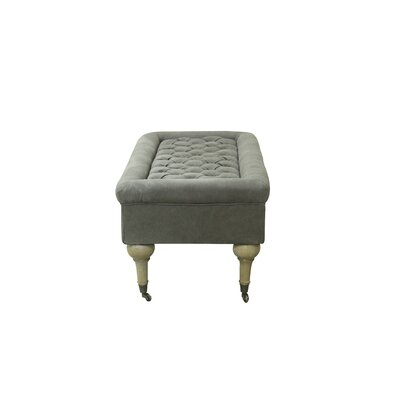 Lebaron Upholstered Bench Color: Frost Gray