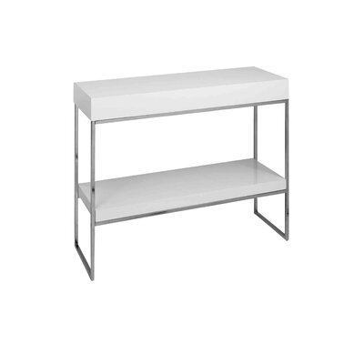 Floyd Console Table Color: White