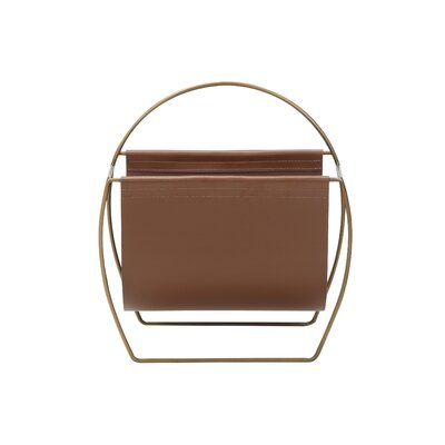 Torito Magazine Rack Color: Brown