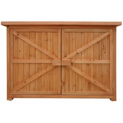 4 ft. 3 in. W x 1 ft. 8 in. D Wooden Horizontal Tool Shed