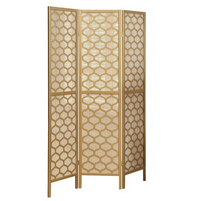 Lantern Design 3 Panel Room Divider Finish: Gold