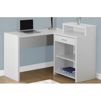 L-Shape Executive Desk Finish: White