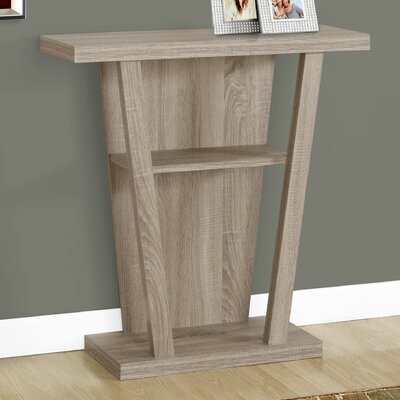 Console Table Color: Dark Taupe