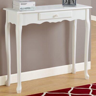 Console Table Color: Antique White