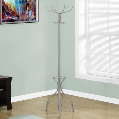 Umbrella Holder Coat Rack Finish: Silver