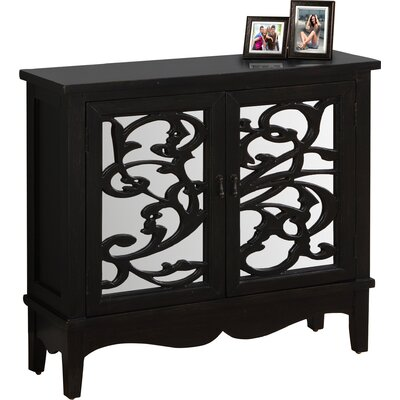 2 Door Accent Cabinet Color: Antique Black