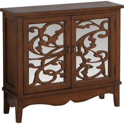 2 Door Accent Cabinet Color: Dark Walnut