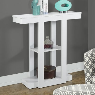 Carmina Console Table Color: White