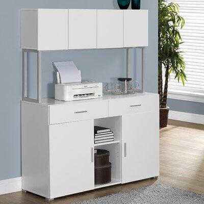 Credenza Desk with Hutch Finish: White