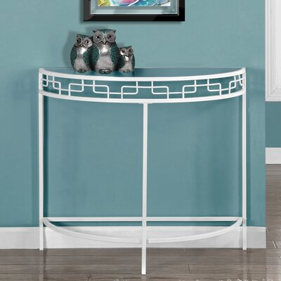 Hall Console Table Color: White