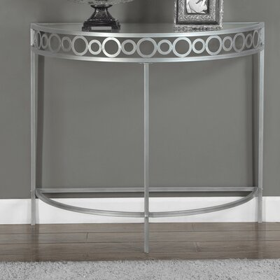 Hall Console Table Color: Silver
