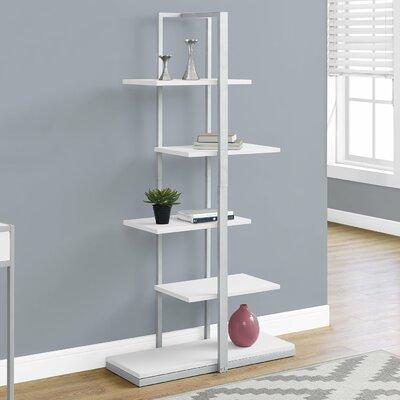 Alisa Etagere Bookcase Color: White