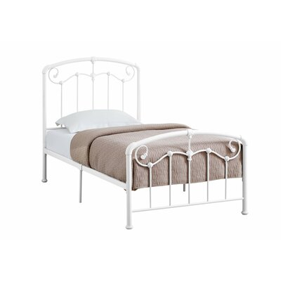 Lapointe Twin Slat Bed Bed Frame Color: White