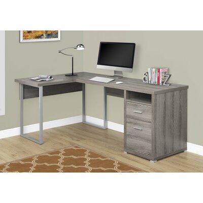 Darcio L-Shape Corner Desk Finish: Dark Taupe
