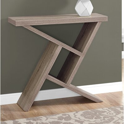 Ayling Modern Console Table Color: Dark Taupe