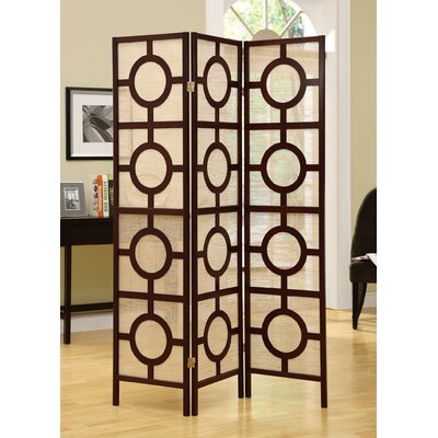 3 Panel Room Divider Color: Cappuccino