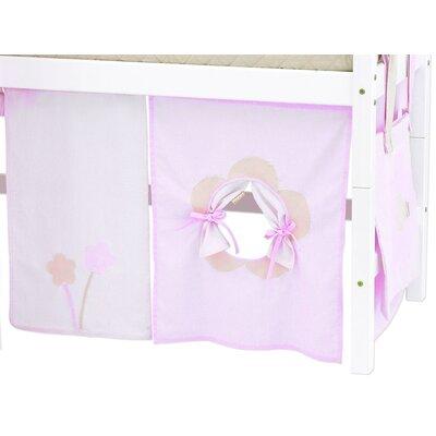 Hoppekids Vorhang in Fairytale Flower für 160cm x 70cm halbhohes Bett